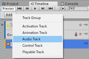 TimelineにAudioTrackを追加する