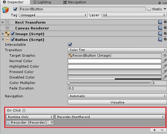 ボタンのOnClickにゴースト機能スクリプトのメソッドを指定