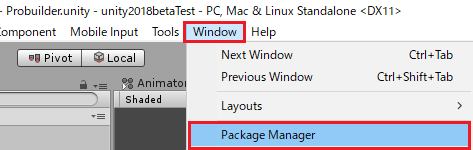 Package Managerを選択する