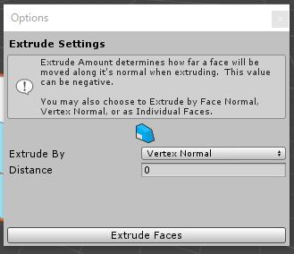 ExtrudeFacesの設定