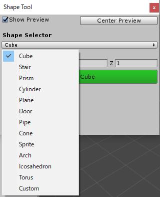 NewShapeToolで選択出来る形状