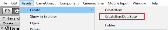 ItemDataBaseクラスからデータファイルを作成