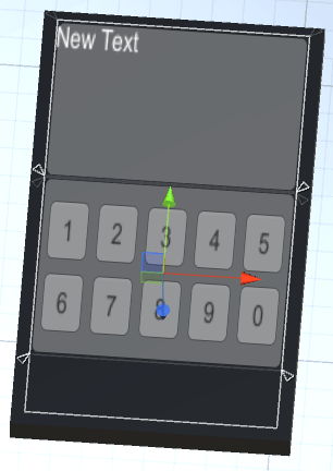 スマフォボタンを取り付けたUIの画面