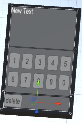 スマフォにDeleteボタンを取り付けたUI画面