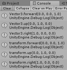 キャラのRotation0でVector3とTransformを比較