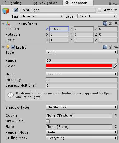 ParticleSystemのLightモジュールに設定するPoint Light