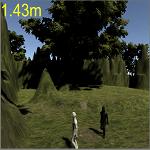 アイキャッチ主人公と敵の距離を計算する