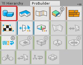 ProBuilderのNew Shape Toolでパイプ形状を作成