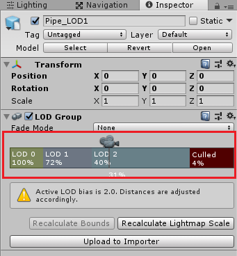 LOD Groupでレベルを調整