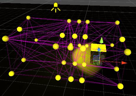 Cubeの周りにライトプローブを配置