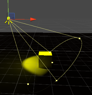 Cubeを照らすベイク用のスポットライト