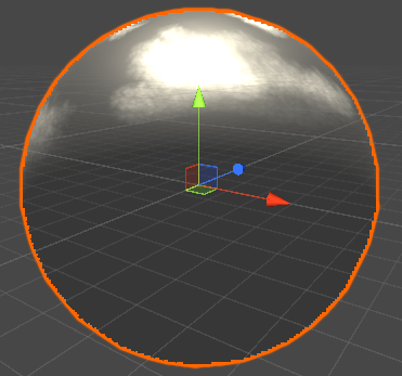 球の空専用のライトを当てた画像