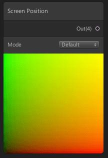 Screen Positionノード