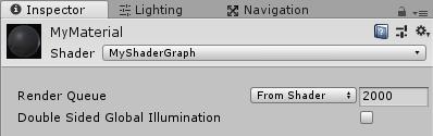 MyShaderGraphをマテリアルに設定