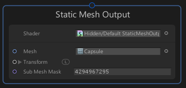 VisualEffectGraphのStatic Mesh Outputコンテキスト