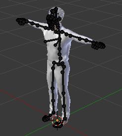 MakeHumanでボーン設定したキャラをBlenderで取り込んだキャラクター