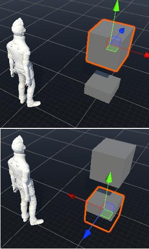 ユニット自身の角度を変える為のわかりやすい画像