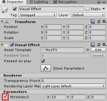 VisualEffectのパラメータのデフォルト値を上書きする