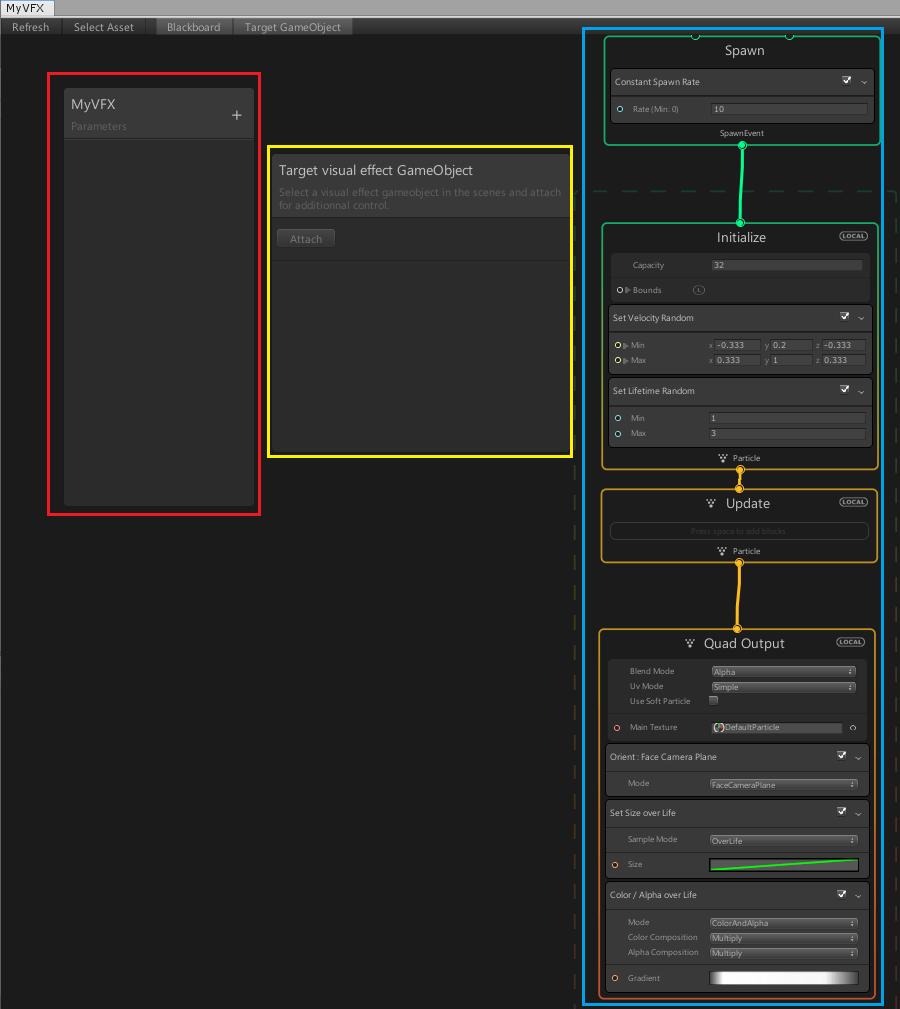 Visual Effect Graphの画面