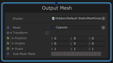 VisualEffectGraphのOutput Meshコンテキスト