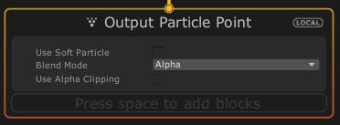 VisualEffectGraphのOutput Particle Pointコンテキスト