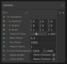 VisualEffectGraphのCameraブロック