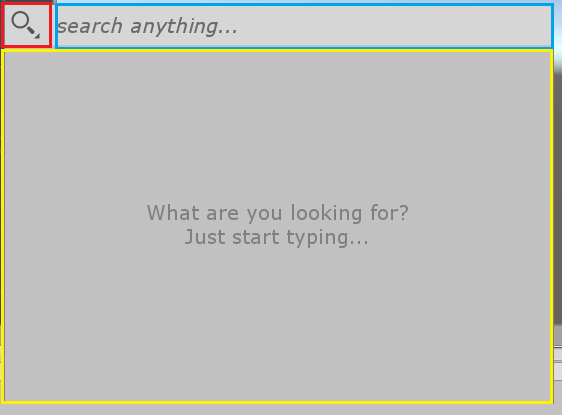 Quick Searchウインドウ