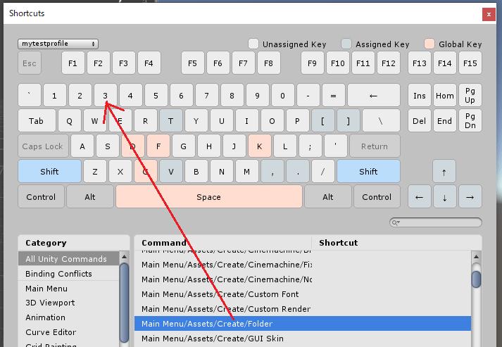 キーマップを使ったショートカットキーのコマンドへの割り当て