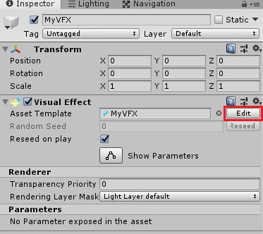 VFXPointCacheサンプルのVFXを開く