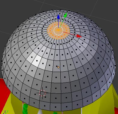 帽子の頂点のメッシュを削除
