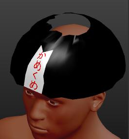 MakeHuman用の帽子を作ったサンプル