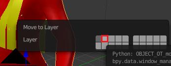 オブジェクトを別レイヤーに移動させる