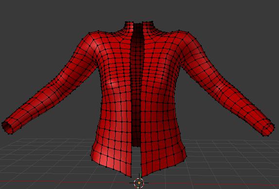 ジャケットの形状