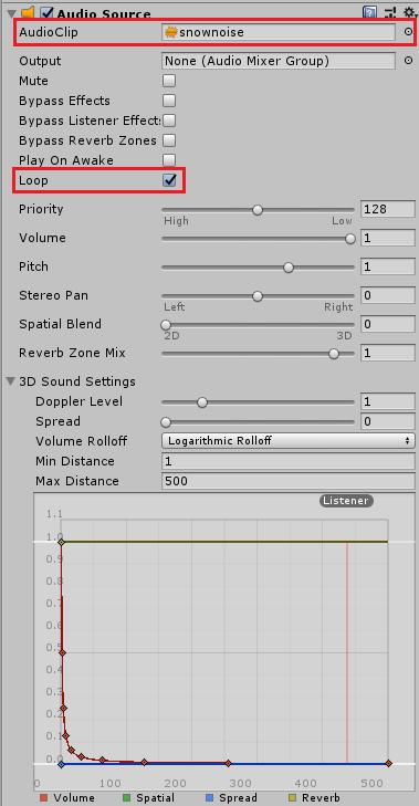 視界ジャック用の動画用の音声の設定