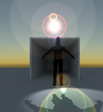 LightのFlareの効果