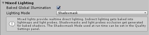 LightingウインドウのMixed Lighting項目