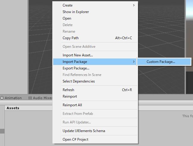 UnityChanモデルデータパッケージをインポートする