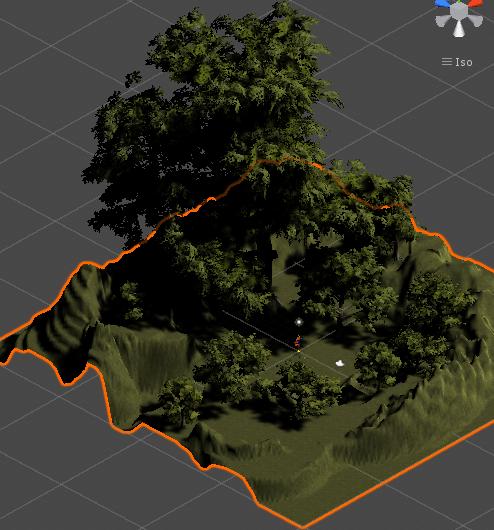 ユニティちゃんRPGの最初の村の木を生やした状態