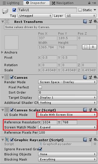ユニティちゃんRPGのTalkUIをゲーム画面サイズに合わせて拡張する