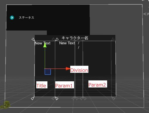 ユニティちゃんRPGのStatusPanelのパネルの分け方