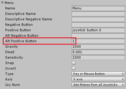 ユニティちゃんRPGのMenuボタンに1キーを追加する