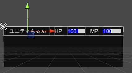 ユニティちゃんRPGのCharacterPanelの表示サンプル