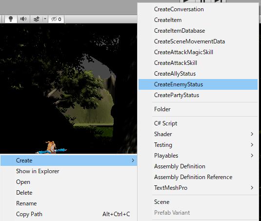 ユニティちゃんRPGの敵キャラクターステータスデータファイルを作成する