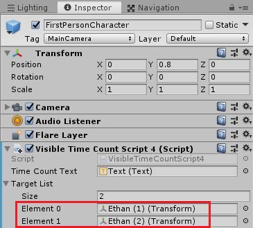 Ethanに取り付けたVisibleTimeCountScript4の設定