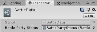 ユニティちゃんRPGのallyPartyStatusにBattlePartyStatusアセットファイルを設定