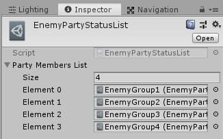ユニティちゃんRPGのEnemyPartyStatusListの設定