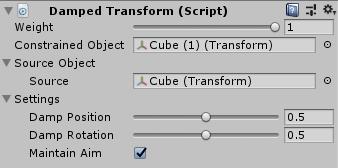 UnityのAnimationRiggingのDamped Transformの設定