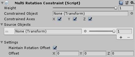 UnityのAnimationRiggingのMultiRotationConstraintの設定