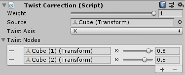 UnityのAnimationRiggingのTwistCollectionの設定