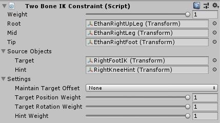 UnityのAnimationRiggingの2BoneIKConstraintの設定